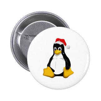 Saint Tux 6 Cm Round Badge