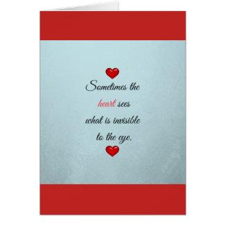 Saint Valentine's Day dedication of love Greeting Card