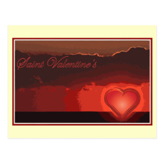 Saint Valentine's day for your boy/girl friend Postcard