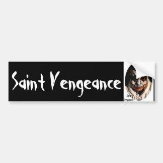 saint vengeance bumper sticker car bumper sticker