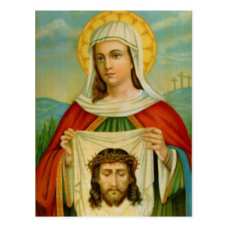 Saint Veronica Feast Day July 12 Postcard