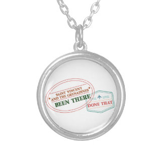 Saint Vincent and The Grenadines Been There Done T Silver Plated Necklace