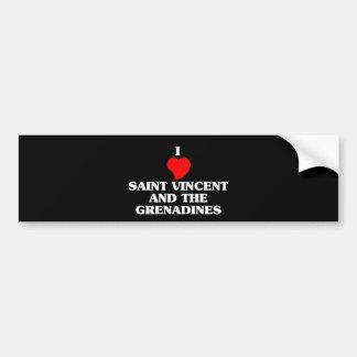 SAINT VINCENT AND THE GRENADINES BUMPER STICKER