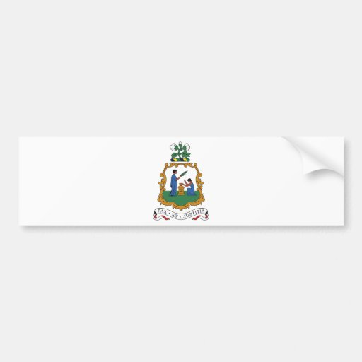 Saint Vincent and the Grenadines Coat of Arms Bumper Stickers