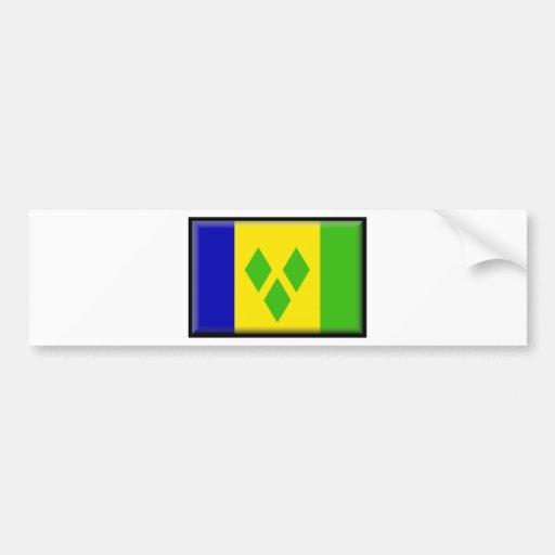 Saint Vincent and the GrenadinesFlag Bumper Sticker
