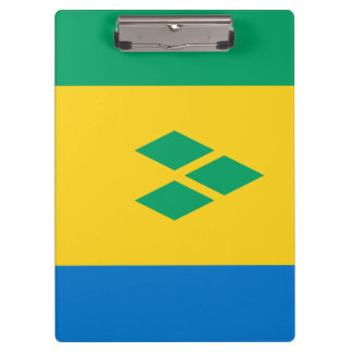 Saint Vincent and the Grenadines Flag Clipboard