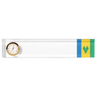 Saint Vincent and the Grenadines Flag Desk Nameplate
