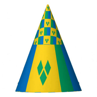 Saint Vincent and the Grenadines Flag Party Hat