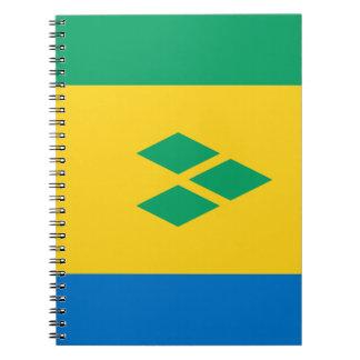 Saint Vincent and the Grenadines Flag Spiral Notebook