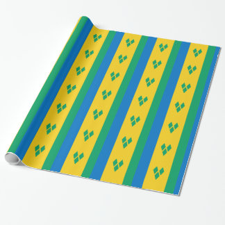 Saint Vincent and the Grenadines Flag Wrapping Paper