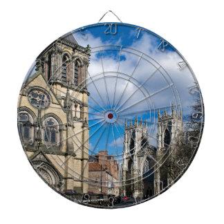 Saint Wilfrids and York Minster. Dartboard