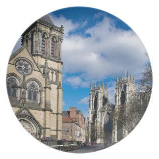 Saint Wilfrids and York Minster. Plate