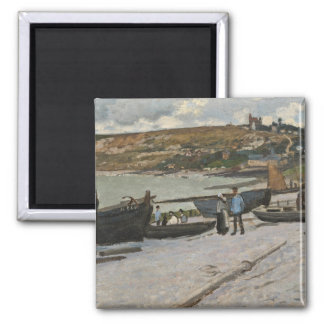 Sainte-Adresse, 1867 (oil on canvas) Square Magnet