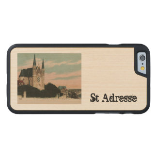Sainte Adresse postcard design Carved® Maple iPhone 6 Case