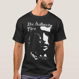 Sainte Anthony's Fyre white on black T-Shirt