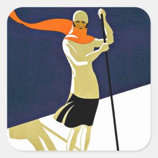 Sainte Croix Les Rasses Ski Sports Travel Square Sticker