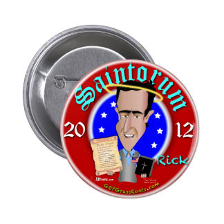 Saintorum Wins Big 6 Cm Round Badge