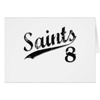 Saints 8 card