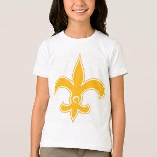 SAINTS fleur de lis gold circle T-Shirt