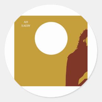 saints round sticker