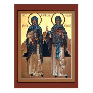 Saints Zinaida and Philonilla Prayer Card