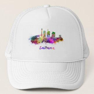 Saitama skyline in watercolor trucker hat