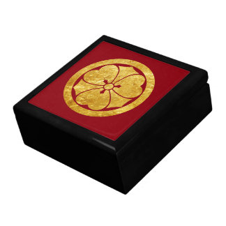 Sakai Mon Japanese samurai clan in faux gold Gift Box