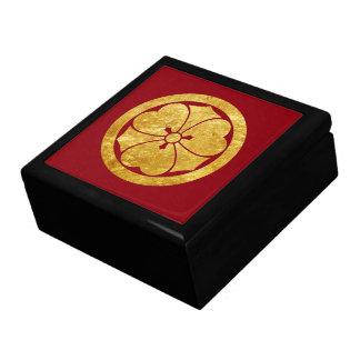 Sakai Mon Japanese samurai clan in faux gold Large Square Gift Box