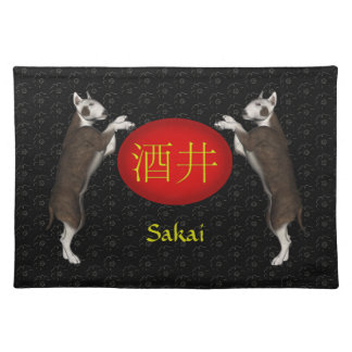Sakai Monogram Dog Placemat