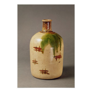 Sake bottle, from Oribe Poster