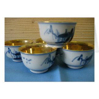 sake cups card