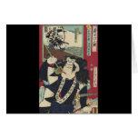 Sake Drinking Samurai Cards