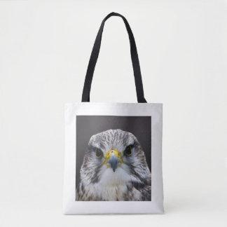 Saker falcon tote bag