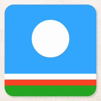 Sakha Republic Flag Square Paper Coaster