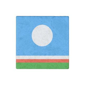 Sakha Republic Flag Stone Magnet