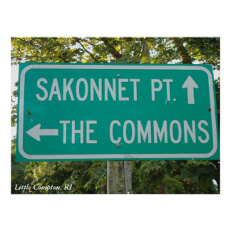 Sakonnet Point, The Commons, Little Compton, RI Poster