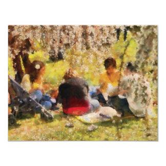 Sakura - Afternoon Picnic 11 Cm X 14 Cm Invitation Card