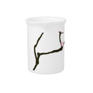 sakura and 7 pink birds 1, tony fernandes pitcher