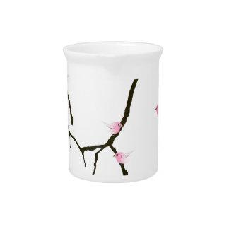 sakura and 7 pink birds 2, tony fernandes pitcher