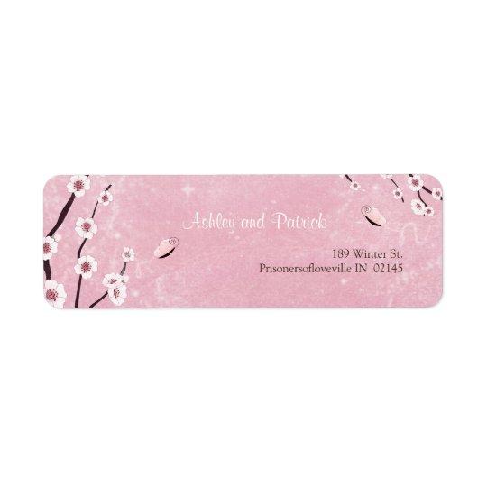 Sakura and Love Butterflies Adress Label Return Address Label