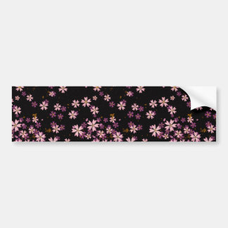 Sakura Black Bumper Sticker