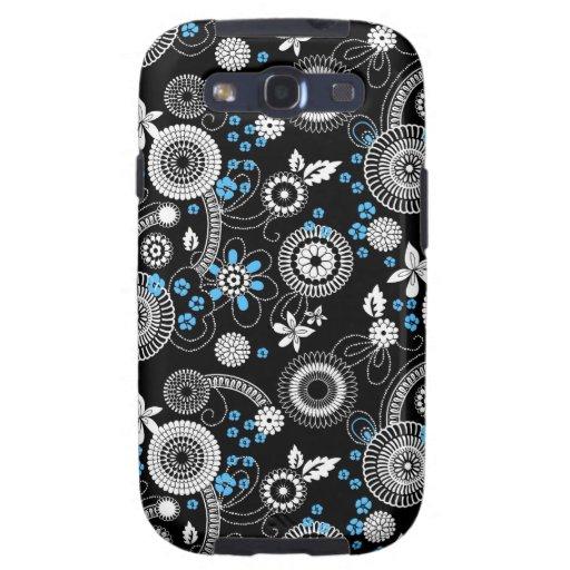 Sakura black white blue Galaxy case Galaxy S3 Case