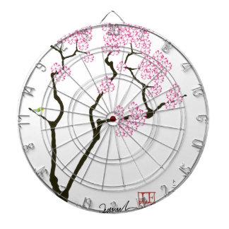 sakura bloom white eye bird, tony fernandes dartboard