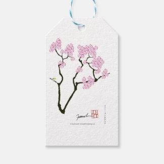 sakura bloom white eye bird, tony fernandes gift tags