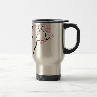 sakura bloom white eye bird, tony fernandes travel mug