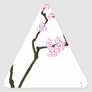 sakura bloom white eye bird, tony fernandes triangle sticker