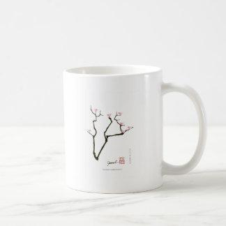 sakura blossom and pink birds, tony fernandes coffee mug