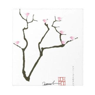 sakura blossom and pink birds, tony fernandes notepad