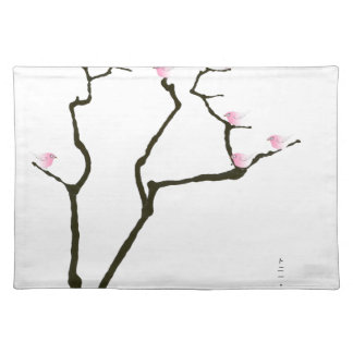 sakura blossom and pink birds, tony fernandes placemat