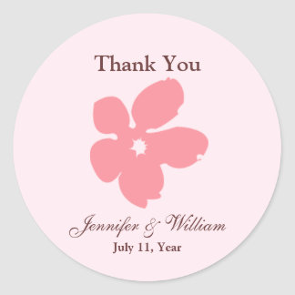 Sakura Blossom Silhouette Favour Stickers